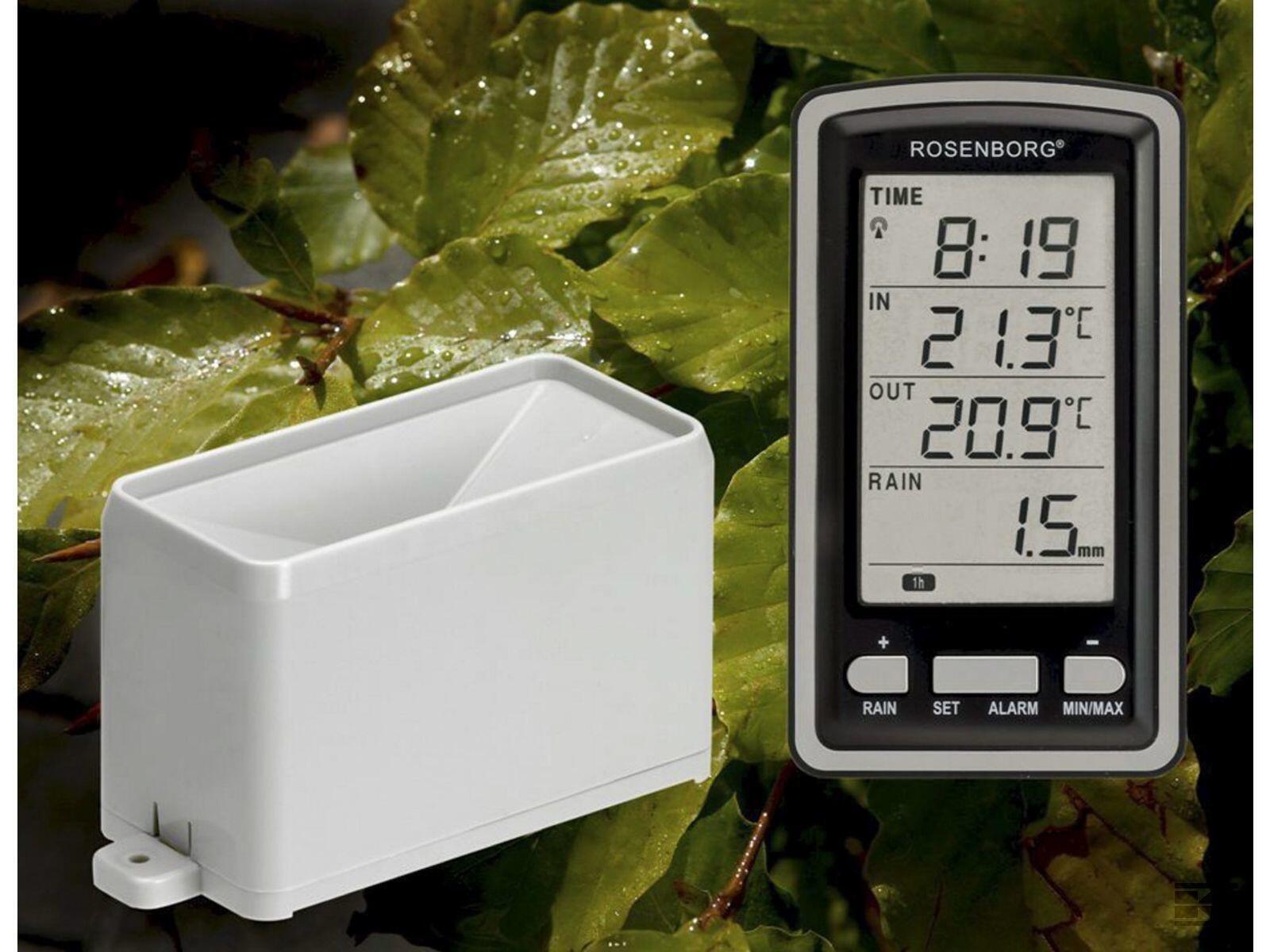 Trådløs regnmåler m temperatur